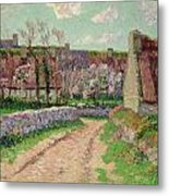 Village In Clohars Metal Print by Henry Moret