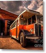 Vintage Bus  Metal Print by Rob Hawkins
