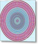 Vintage Color Circle Metal Print by Atiketta Sangasaeng