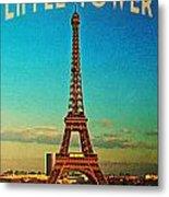 Vintage Eiffel Tower Metal Print by Flo Karp