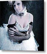 Vintage Portrait Of A Dancer Metal Print by Cindy Singleton