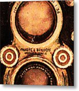 Vintage Rolleiflex Camera . Long Cut . 7d13357 Metal Print by Wingsdomain Art and Photography