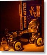 Vintage Roller Skates Metal Print by Jerry Taliaferro