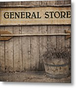 Vintage Sign General Store Metal Print by Jane Rix