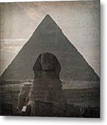 Vintage Sphinx Metal Print by Jane Rix