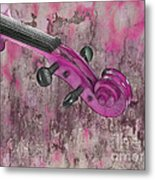 Violinelle - Pink 03b2 Metal Print by Variance Collections