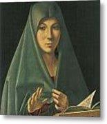 Virgin Annunciate Metal Print by Antonello Da Messina