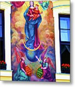 Virgin Mary Mural Metal Print by Mariola Bitner