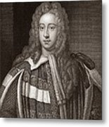Viscount Bolingbroke, English Statesman Metal Print by Middle Temple Library