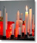 Votive Candles Metal Print by Gaspar Avila