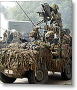 Vw Iltis Jeeps Used By Scout Or Recce Metal Print by Luc De Jaeger