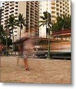 Waikiki Blur Metal Print by Ashlee Meyer