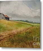 Waiting For The Summers Rain Metal Print by Charles Fennen