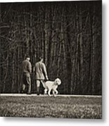 Walking The Dog Metal Print by Off The Beaten Path Photography - Andrew Alexander