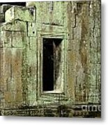 Wall Ta Prohm Metal Print by Bob Christopher