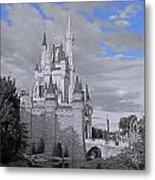 Walt Disney World - Cinderella Castle Metal Print by AK Photography