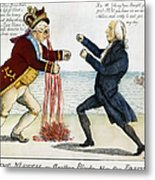 War Of 1812: Cartoon, 1813 Metal Print by Granger