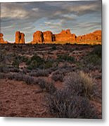 Warm Glow Over Arches Metal Print by Andrew Soundarajan