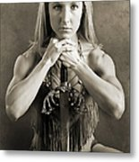 Warrior Woman Metal Print by Cindy Singleton