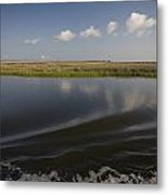 Water And Marsh In Plaquemines Parish Metal Print by Tyrone Turner