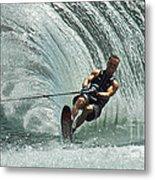 Water Skiing Magic Of Water 10 Metal Print by Bob Christopher