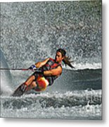 Water Skiing Magic Of Water 15 Metal Print by Bob Christopher