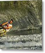 Water Skiing Magic Of Water 8 Metal Print by Bob Christopher