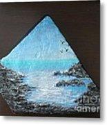 Water With Rocks Metal Print by Monika Shepherdson