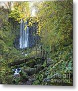 Waterfall Of Vaucoux. Puy De Dome. Auvergne. France Metal Print by Bernard Jaubert