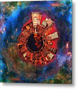 Wee Manhattan Planet - Artist Rendition Metal Print by Nikki Marie Smith
