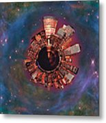 Wee Manhattan Planet Metal Print by Nikki Marie Smith