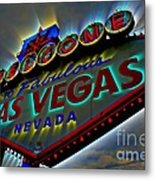 Welcome To Las Vegas Metal Print by Kevin Moore