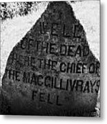 well of the dead and clan macgillivray memorial stone on Culloden moor battlefield site highlands sc Metal Print by Joe Fox