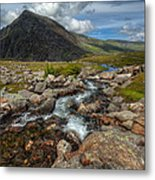 Welsh Valley Metal Print by Adrian Evans