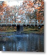 West Valley Green Road Bridge Along The Wissahickon Creek Metal Print by Bill Cannon