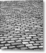 Wet Cobblestoned Huntly Street In The Union Street Area Of Aberdeen Scotland Uk Metal Print by Joe Fox