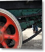 Wheels Of Steam Powered Truck 7d15103 Metal Print by Wingsdomain Art and Photography