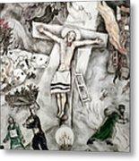 White Crucifixion Metal Print by Granger