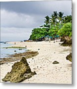 White Sand Beach Moal Boel Philippines Metal Print by James BO  Insogna
