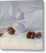 White Still Life II Metal Print by Svetlana and Sabir Gadzhievs