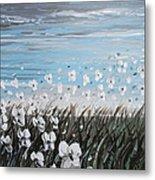 White Wildflower Breeze Metal Print by Christine Krainock