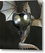 White Wine Dragon Metal Print by Daniel Eskridge