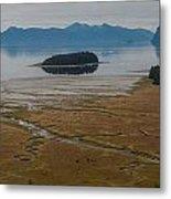 Wild Alaska Coast Metal Print by Mike Reid