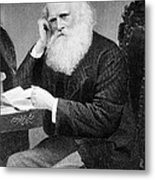 William Cullen Bryant, American Poet Metal Print by Photo Researchers