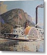 William G Muller Lithograph Towboat Syracuse  Metal Print by Jake Hartz