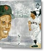 Willie Mays - The Greatest Metal Print by George  Brooks