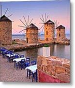 Windmills 2  Metal Print by Emmanuel Panagiotakis