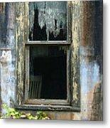 Window In Old Wall Metal Print by Jill Battaglia