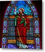 Window In Trinity Church Iv Metal Print by Steven Ainsworth