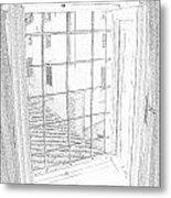 Window To History Metal Print by Michael Belgeri
